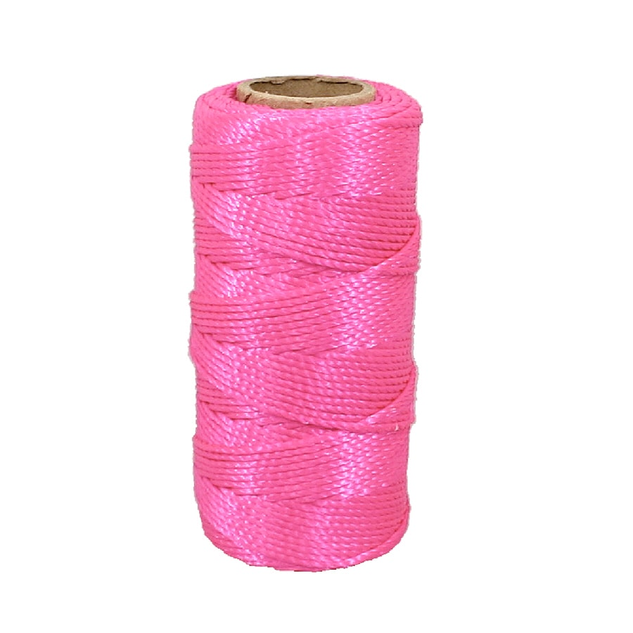 Lehigh 1/16-in x 225-ft Pink Twisted Polypropylene Rope