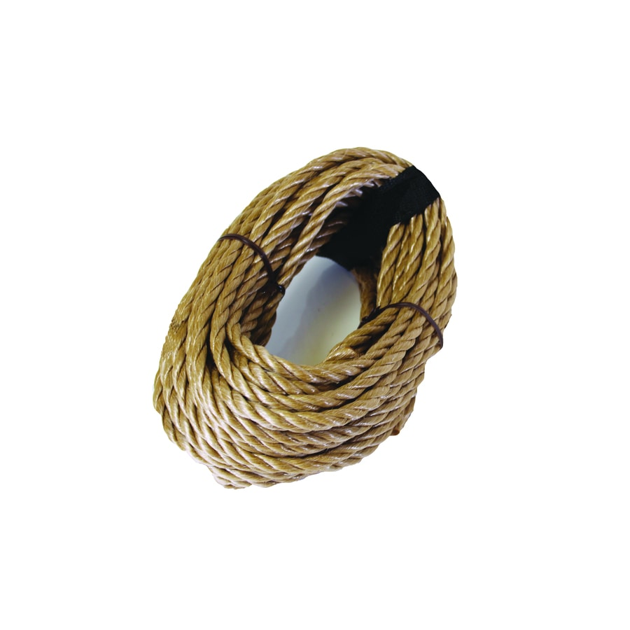 Blue Hawk 0.375-in x 50-ft Twisted Polypropylene Rope