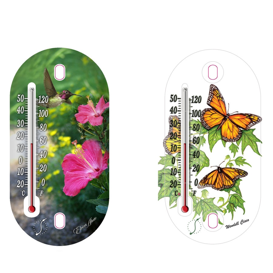 Shop Garden Treasures Decorative Tube Thermometer at Lowes.com