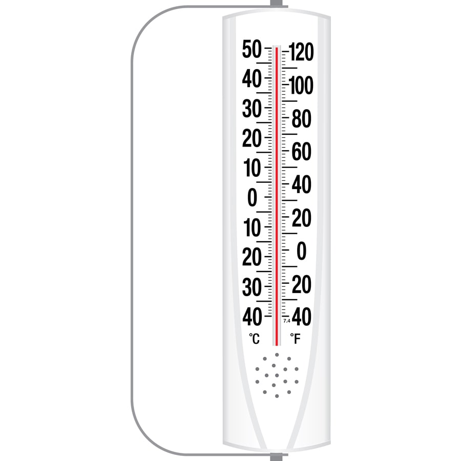 Garden Treasures Indoor/Outdoor Thermometer with Swivel Bracket