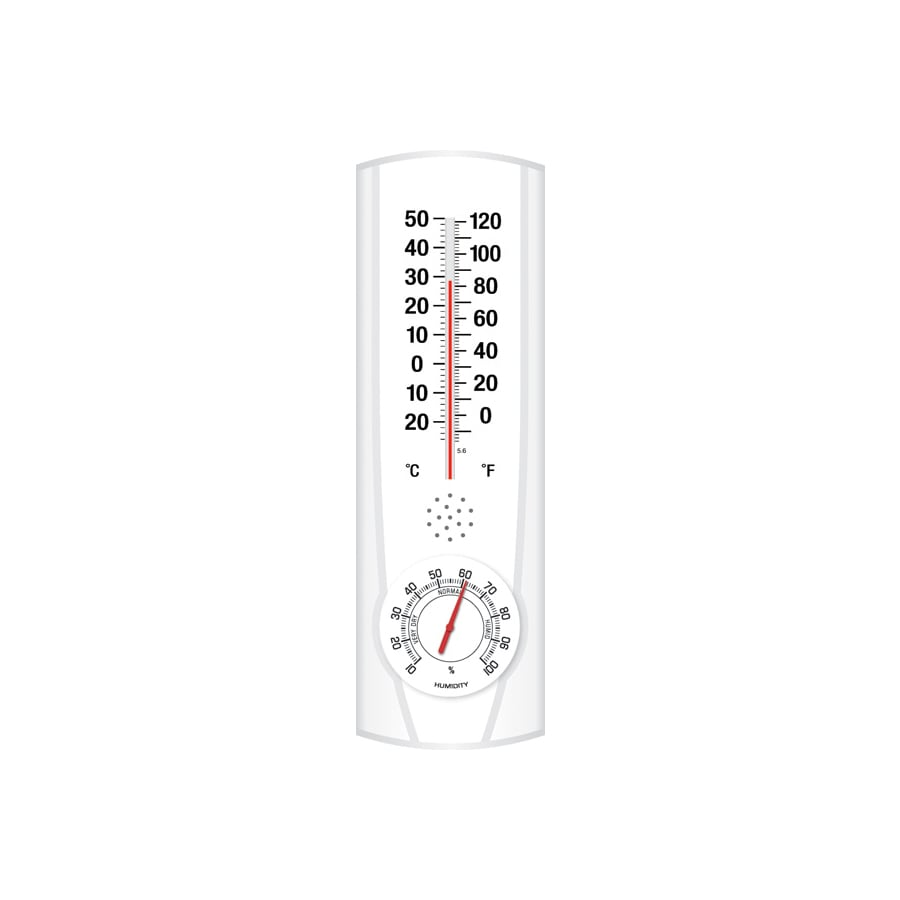 Shop Garden Treasures Indoor/Outdoor Wall Thermometer with Humidity ...