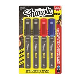 Sharpie Pro Permanent Marker, Fine Bullet Tip, Assorted Colors, 4/Pack -SAN2018324