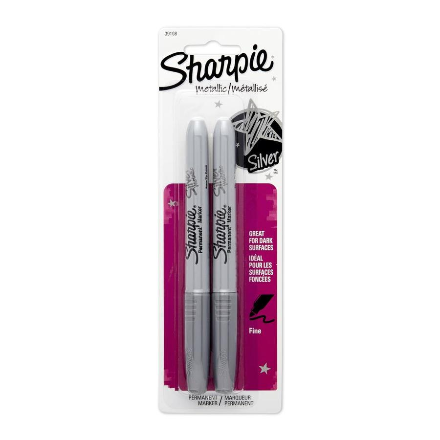 Sharpie 2-Pack Silver Metallic Fine Point Permanent Markers