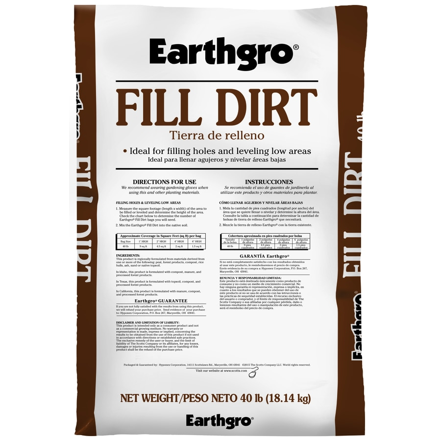 Earthgro Fill Dirt 40-lb Top Soil