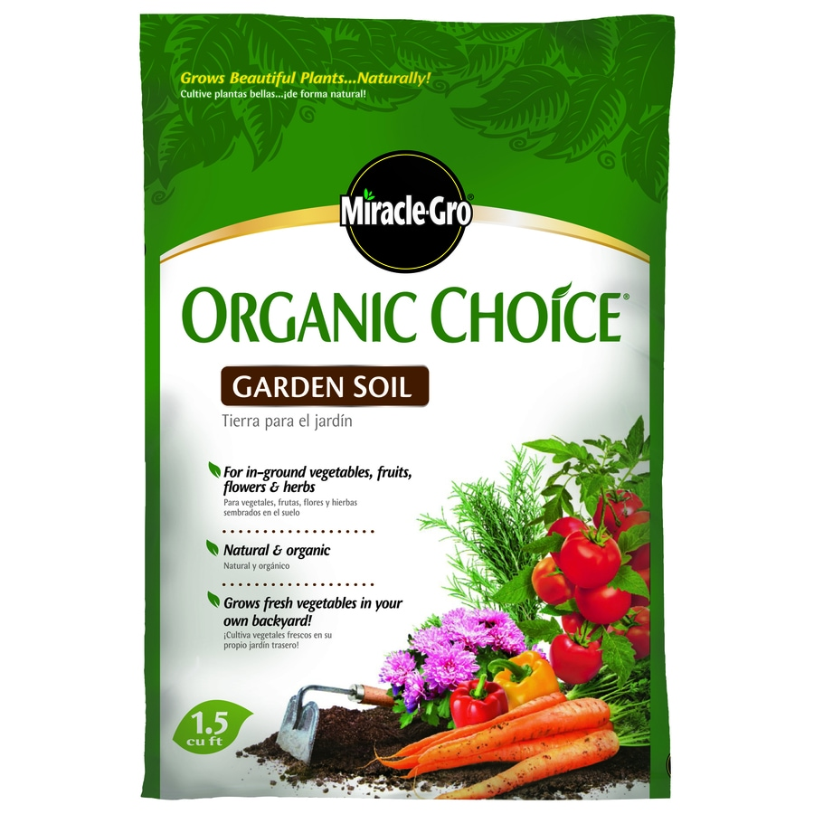 Miracle-Gro 1.5-cu ft Organic Garden Soil