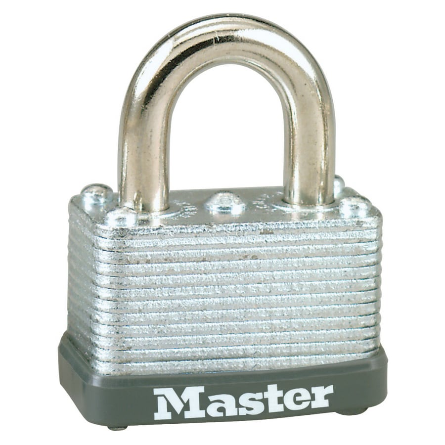 Master Lock 1.78-in Laminated Steel Shackle Keyed Padlock