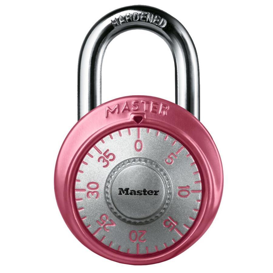 Master Lock 1.875-in Pink Aluminum Shackle Combination Padlock