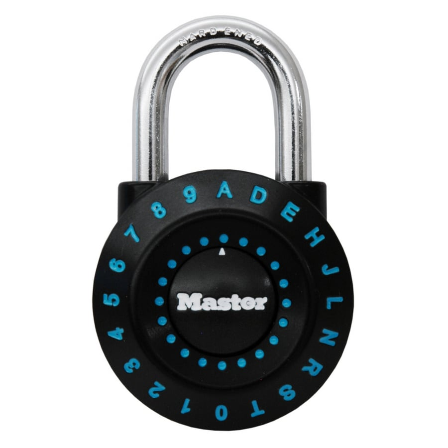Master Lock 1.94-in Black/Green Steel Shackle Combination Padlock
