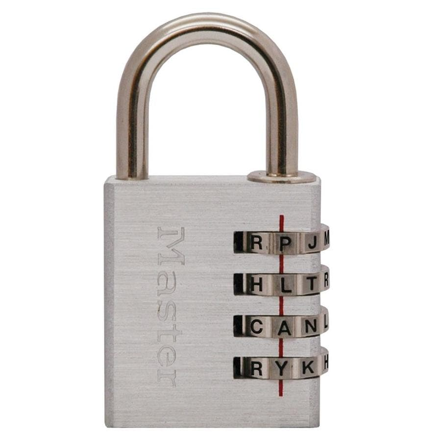 Master Lock 1.57-in Aluminum Shackle Combination Padlock