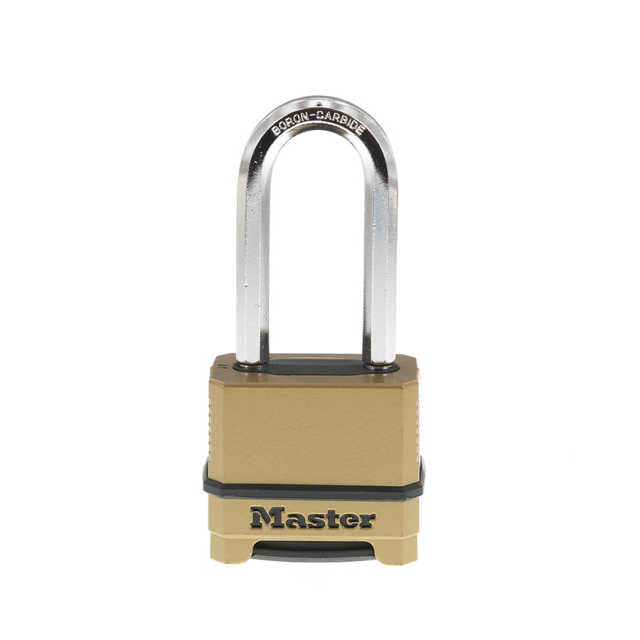 Master Lock 2.273-in Brass Shackle Combination Padlock