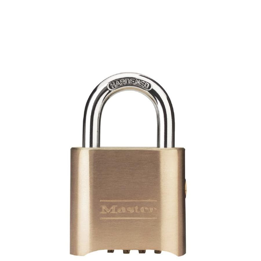 Master Lock 2-in Brass Shackle Combination Padlock Hardened Steel Indoor Outdoor