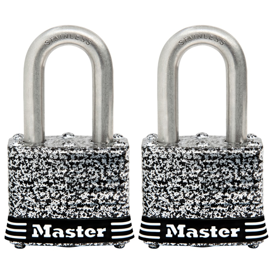Master Lock 2-Pack 1.642-in Laminated Stainless Steel Shackle Keyed Padlock