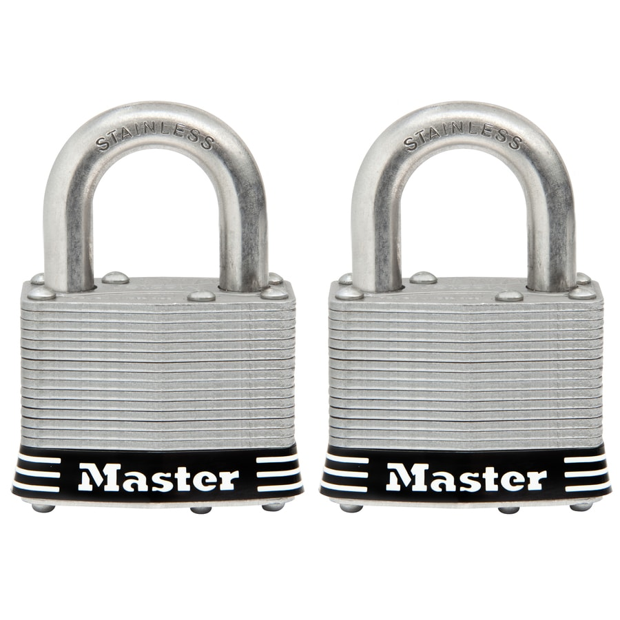 Master Lock 2-Pack 2.078-in Laminated Stainless Steel Shackle Keyed Padlocks