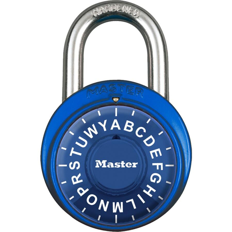 Master Lock 1.89-in Multicolor Steel Shackle Combination Padlock