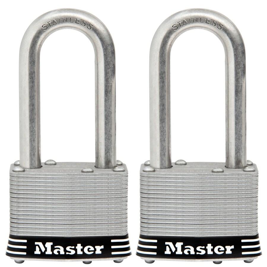 Master Lock 2-Pack 2.078-in Laminated Stainless Steel Shackle Keyed Padlocks