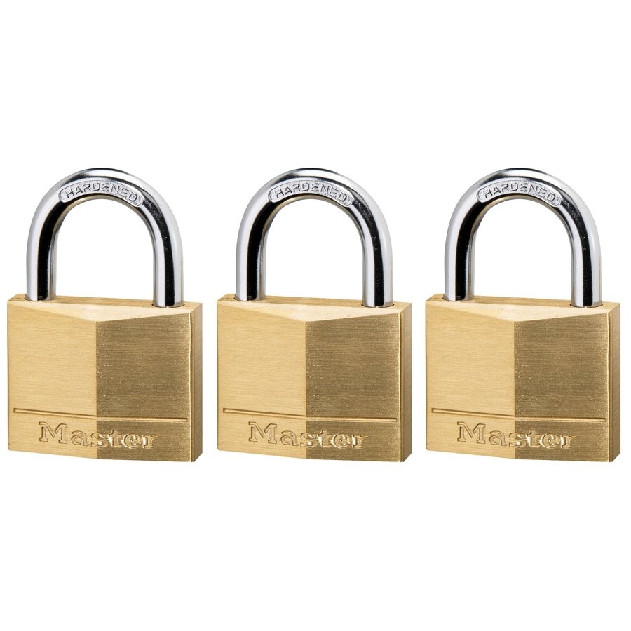 Brand New Master Lock Solid Brass Padlock 2 Pack Keyed Alike 140T in Package