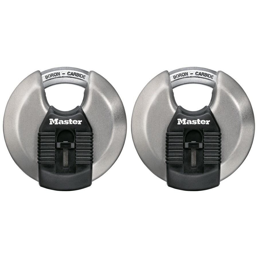 Master Lock Padlock Magnum Stainless Steel Discus Lock M50XD Wide 3-1//8 in