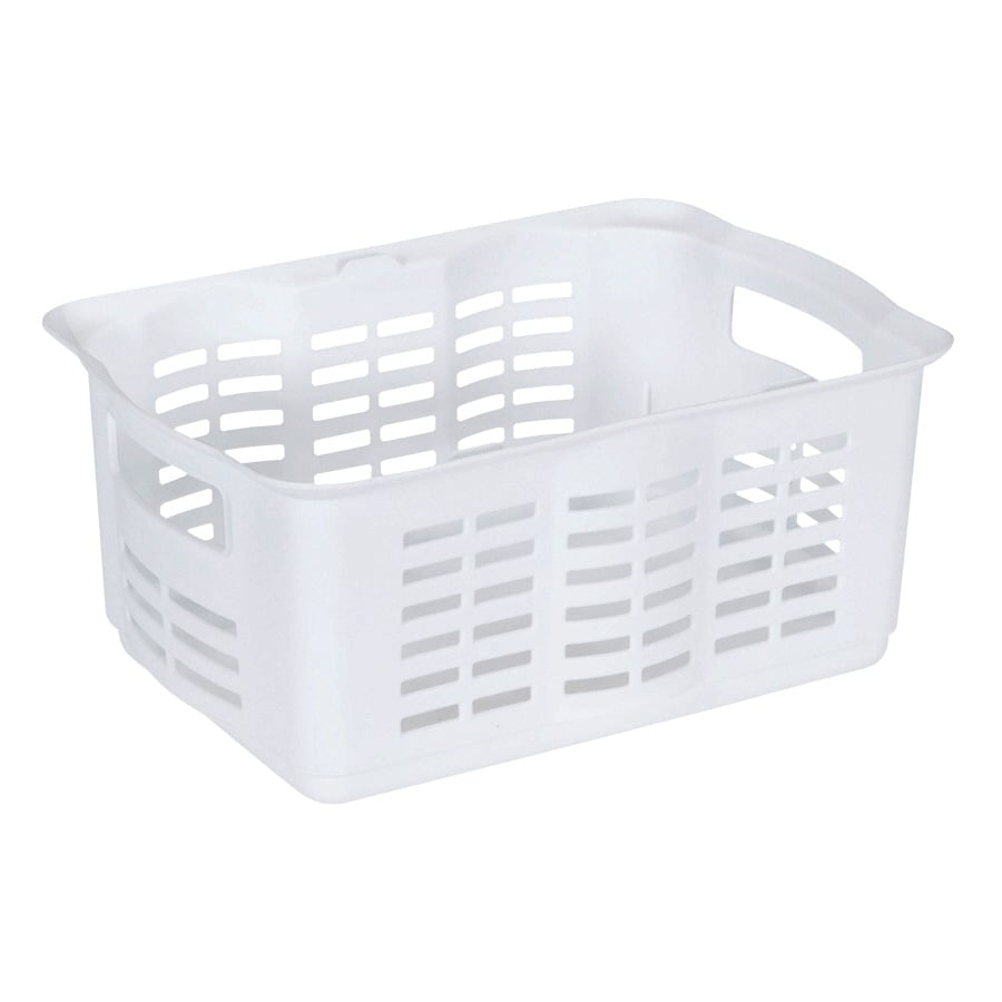 Rubbermaid 10-in W x 6.5-in H x 13.5-in D White Plastic Bins