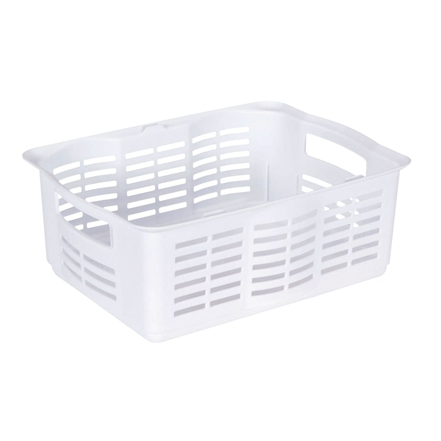 Rubbermaid 12-in W x 6.5-in H x 16-in D White Plastic Bins
