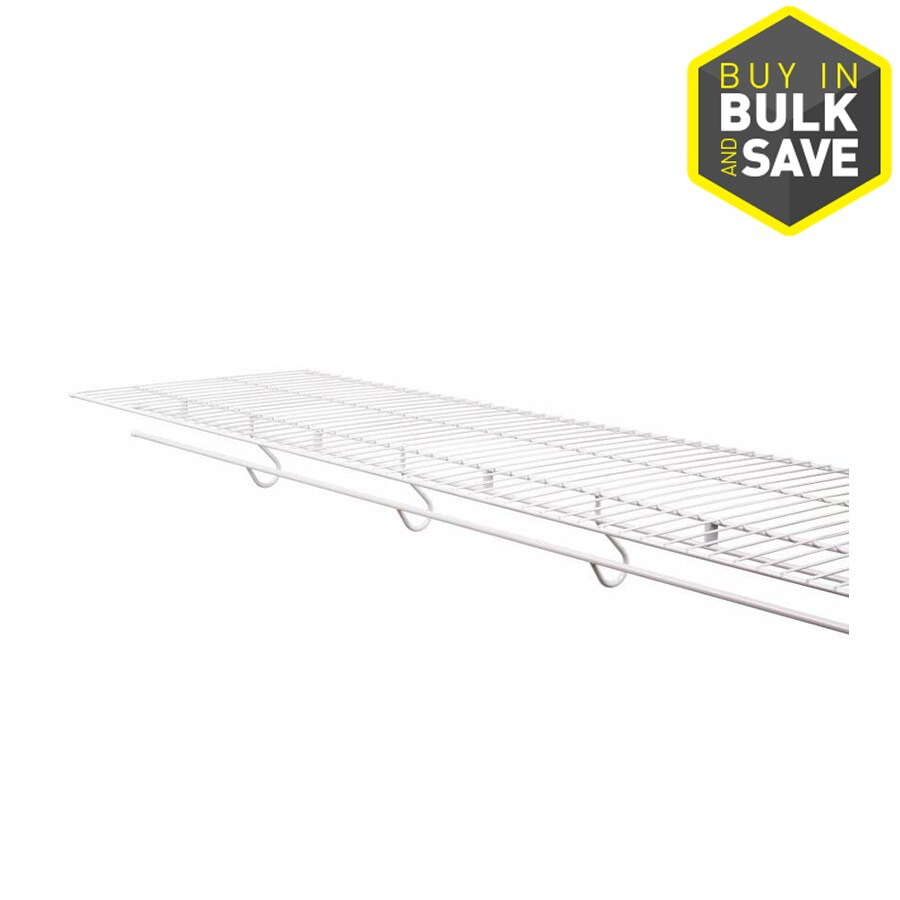 Rubbermaid FreeSlide 8-ft x 16-in White Wire Shelf