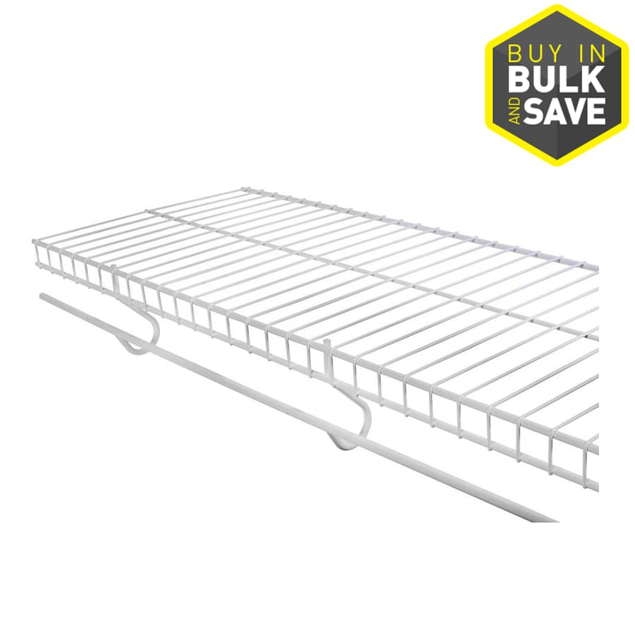 Shop Rubbermaid FreeSlide 8-ft X 12-in White Wire Shelf At
