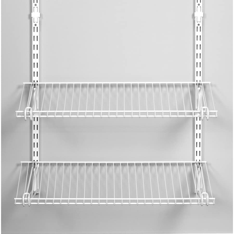Wire Wall Shelving | Shop Rubbermaid Homefree Series 4 Ft Adjustable Mount Wire Shelving
