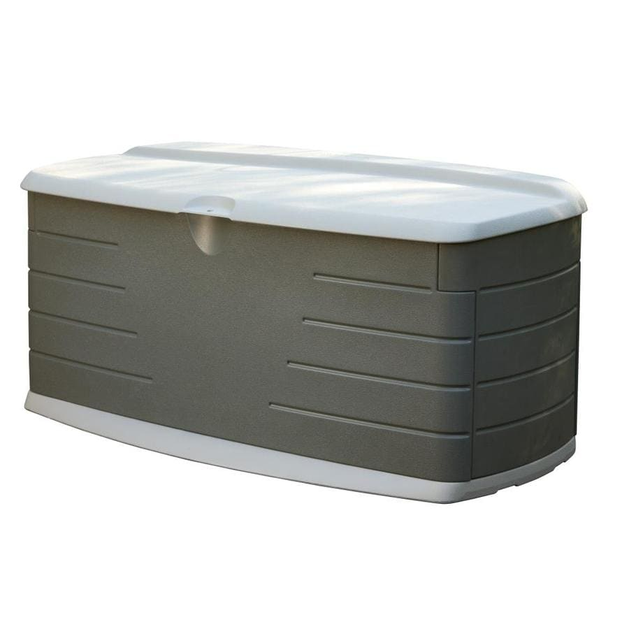 Rubbermaid 26-in L x 56-in W 90-Gallon Olive/Sandstone Resin Deck Box