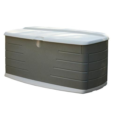 Rubbermaid 26 In L X 56 In 90 Gallon Olive Sandstone Deck