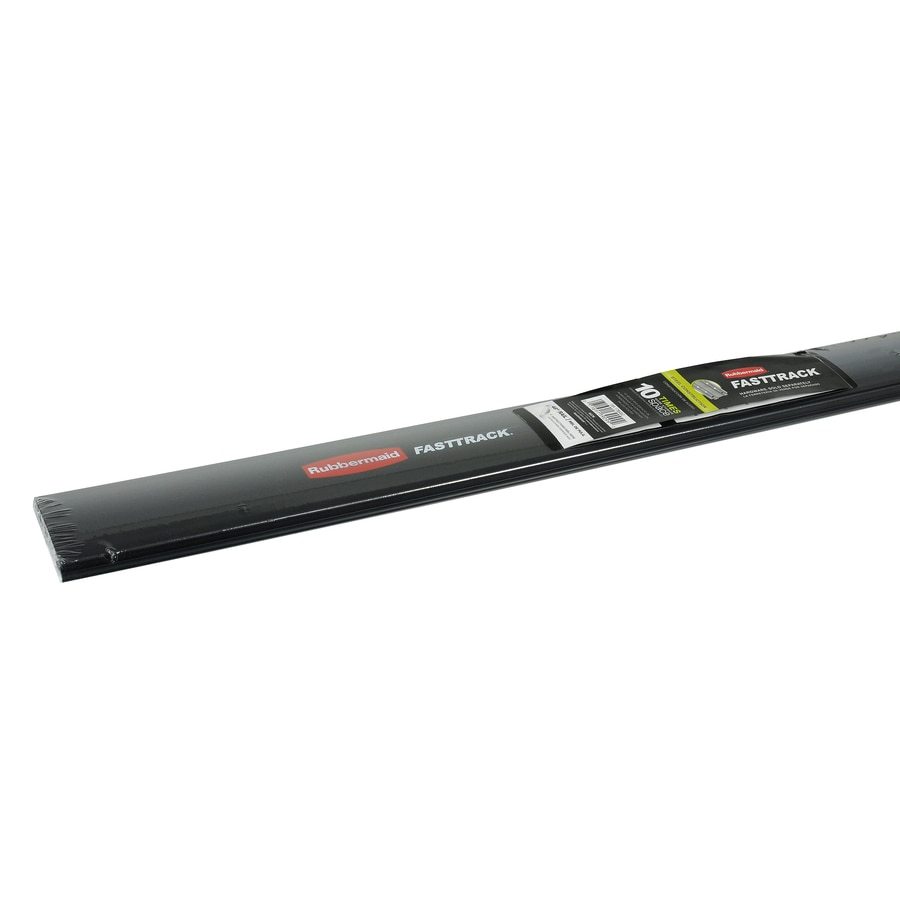 Rubbermaid FastTrack Garage Black/Silver Steel Storage Rail