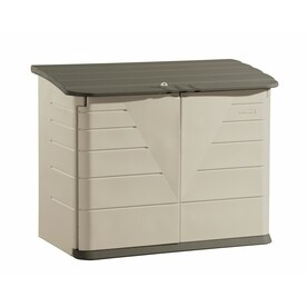 Rubbermaid Olive/Sandstone Resin Outdoor Storage Shed (Common: 60 In X 32