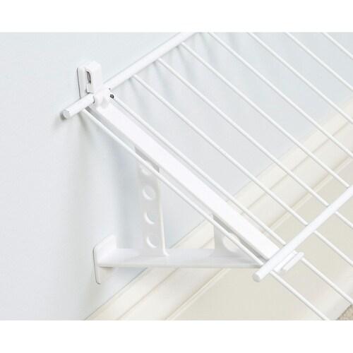 Shoe Shelf Support Rubbermaid Direct Mount Non-Adjustable Closet System White
