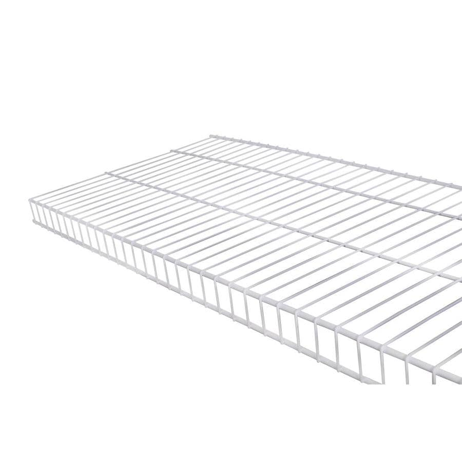 Shop Rubbermaid Linen 6-ft L X 16-in D White Wire Shelf At