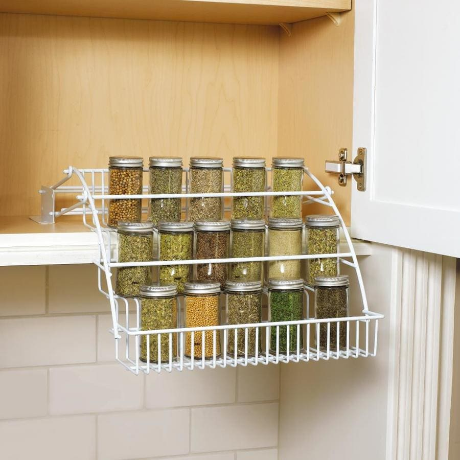 Rubbermaid Coated Wire In-Cabinet Spice Rack