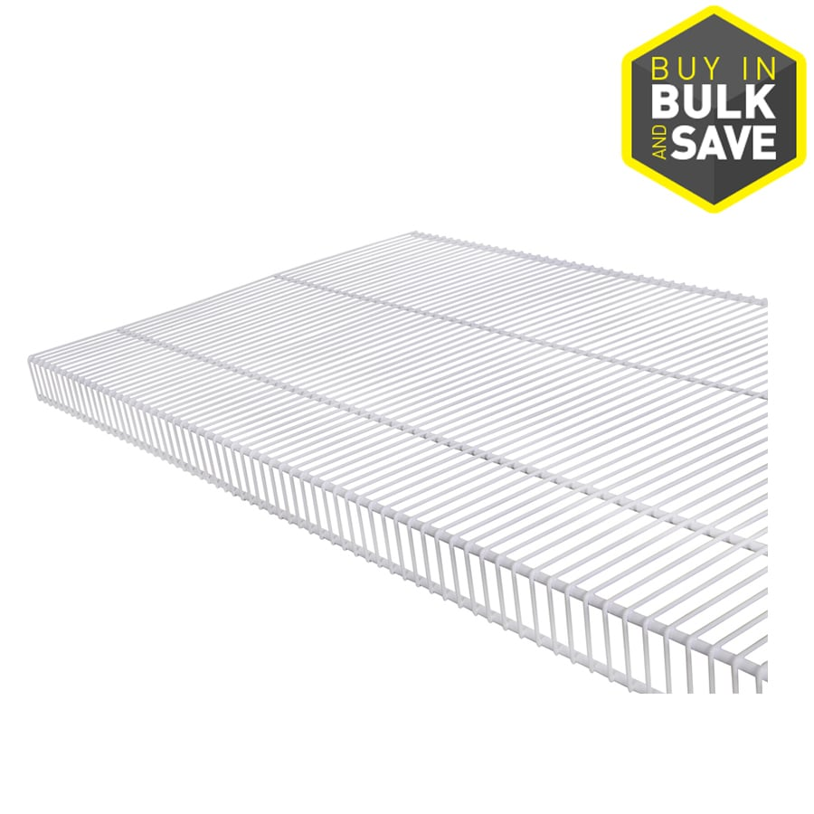 Rubbermaid TightMesh 12-ft L x 20-in D White Wire Shelf
