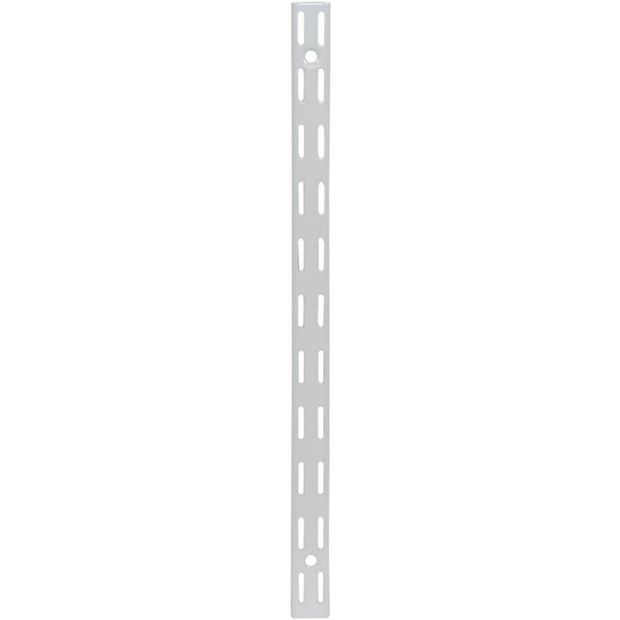 Rubbermaid FastTrack White Shelving Upright (Common: 0.875-in x 47.5-in x 1-in; Actual: 0.875-in x 47.5-in x 1-in)