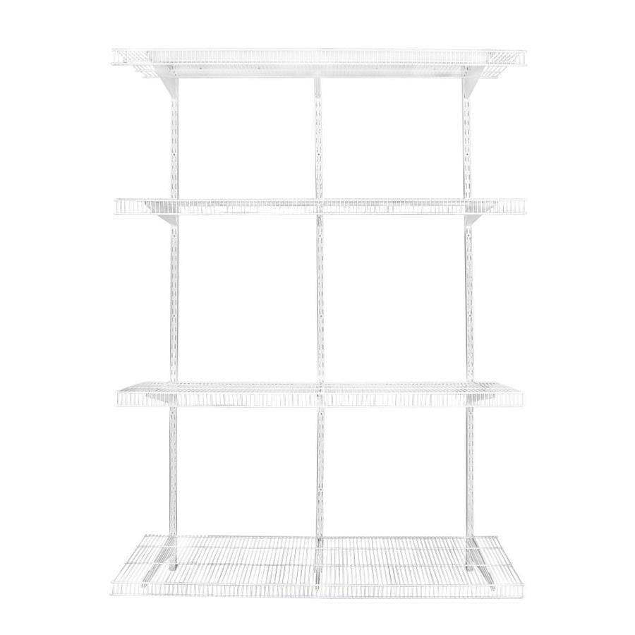 wire closet shelving. Rubbermaid FastTrack Pantry 4-ft To Adjustable Mount Wire Shelving Kits Closet