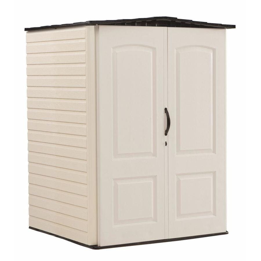 Shop rubbermaid storage shed common 5 ft x 4 ft actual for Garden shed 5 x 4
