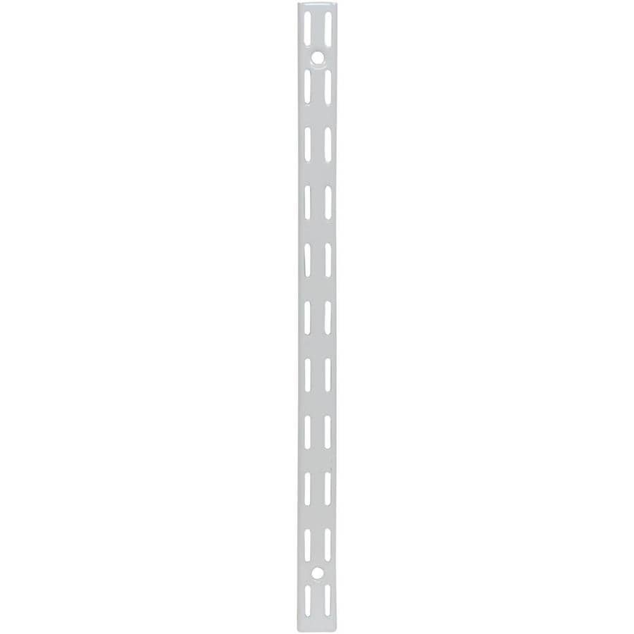 Rubbermaid FastTrack White Shelving Upright (Common: 0.875-in x 81.25-in x 1-in; Actual: 0.875-in x 81.25-in x 1-in)