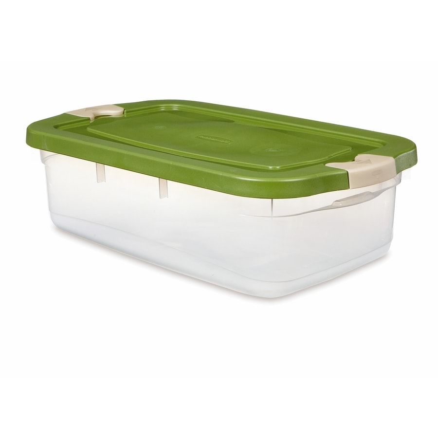 Rubbermaid Roughneck 31-Quart Clear General Tote with Locking Latch Lid
