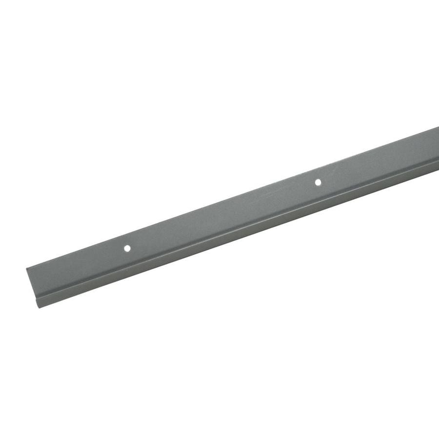Rubbermaid FastTrack Satin Nickel Shelving Rail (Common: 80-in x 1.7-in x 0.5-in; Actual: 80-in x 1.7-in x 0.5-in)