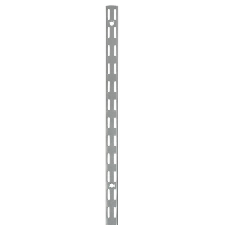 Rubbermaid FastTrack Satin Nickel Shelving Upright (Common: 0.875-in x 47.5-in x 1-in; Actual: 0.875-in x 47.5-in x 1-in)