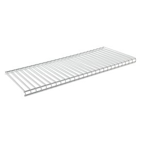 Rubbermaid HomeFree Series 2 Ft To 4 Ft Satin Nickel Adjustable Mount Wire  Shelving