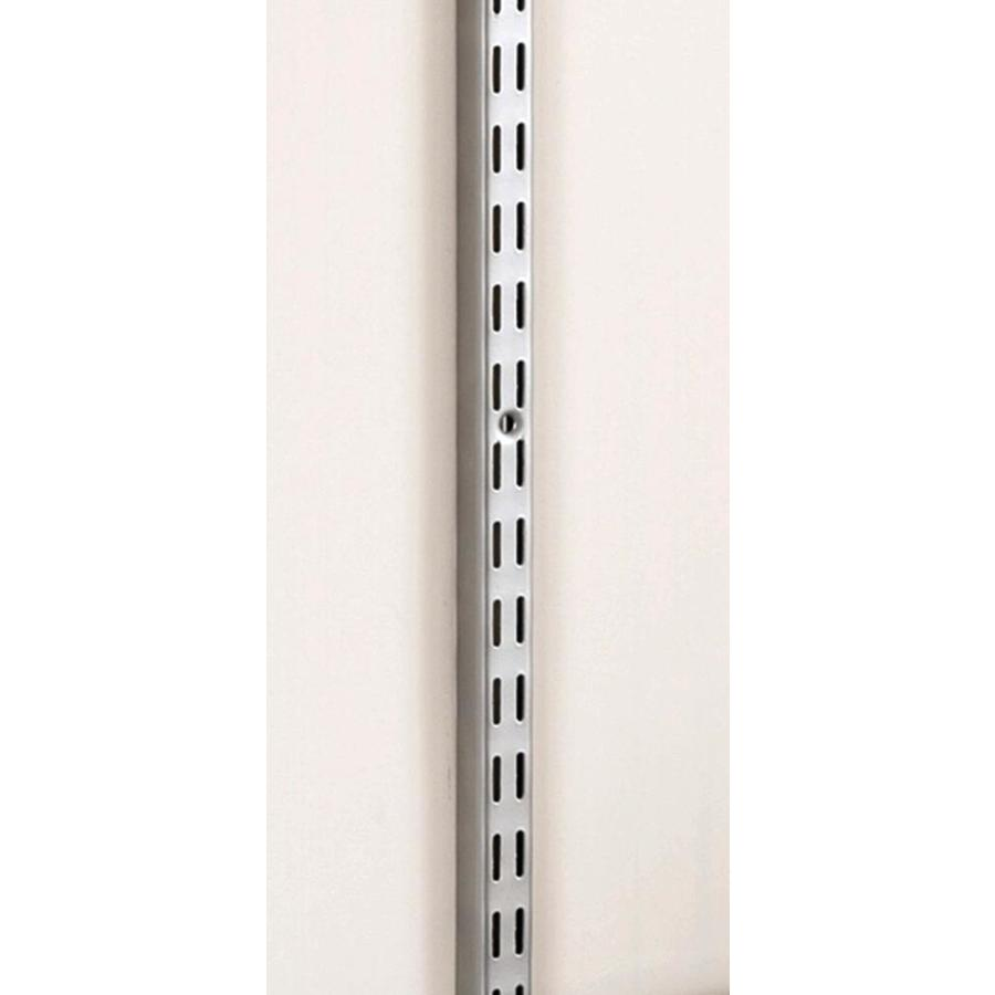 Rubbermaid HomeFree series Satin Nickel Shelving Upright (Common: 0.875-in x 47.5-in x 1-in; Actual: 0.875-in x 47.5-in x 1-in)