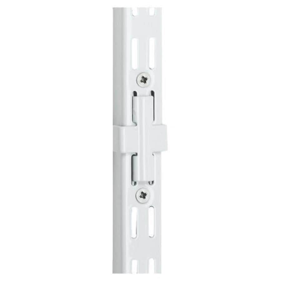 Rubbermaid FastTrack White Upright Connector (Common: 3.5-in x 4-in x 0.625-in; Actual: 3.5-in x 4-in x 0.625-in)