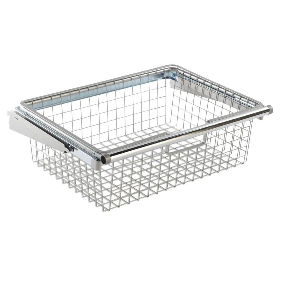 shop rubbermaid fasttrack white wire sliding basket at