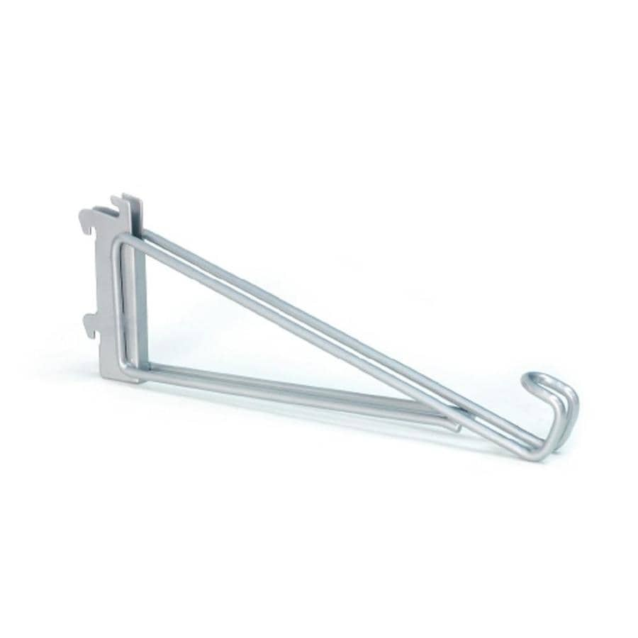 Rubbermaid HomeFree Series Satin Nickel Shoe Bracket (Common: 1-in x 4.44-in x 12-in; Actual: 1-in x 4.44-in x 12.3-in)