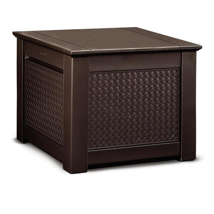 Rubbermaid 28.5-in L x 28.5-in W 56-Gallon Dark Teak Resin Deck Box