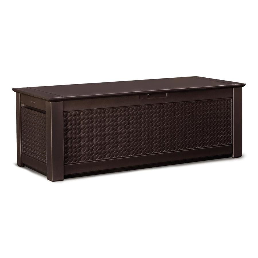 Superbe Rubbermaid 65 In L X 28.5 In W 136 Gallon Dark Basketweave Deck