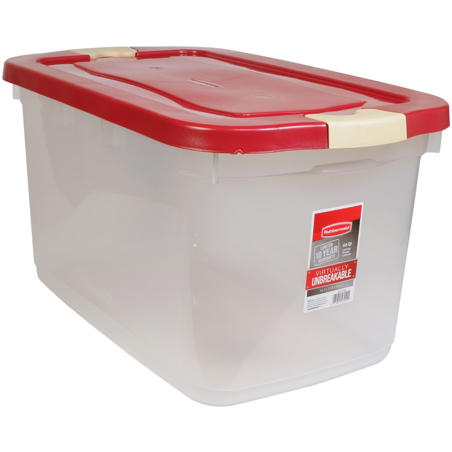 Rubbermaid Roughneck 66-Quart Clear Tote with Latching Lid
