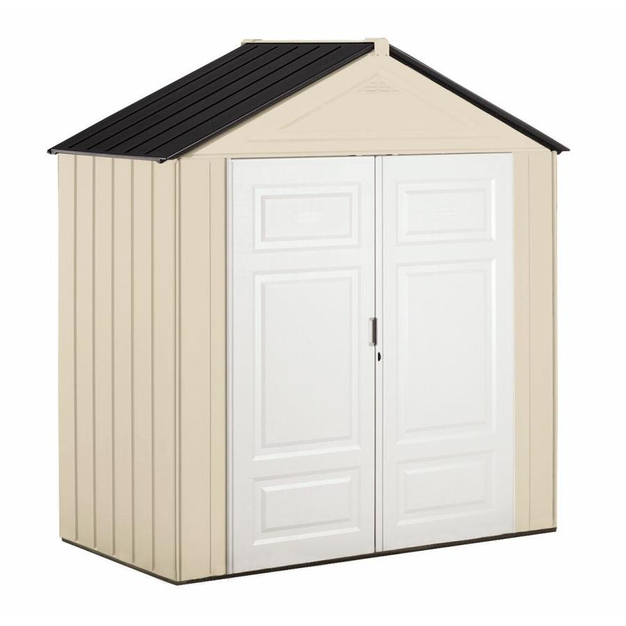 Shop rubbermaid storage shed common 7 ft x 3 ft actual for Outdoor tool shed